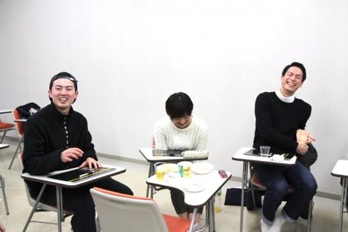 吉本選手(右)の誤字にみんな笑いが止まりません(笑)